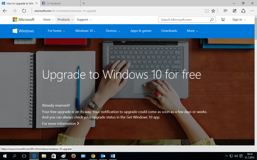Windows 10 Screen Microsoft Edge