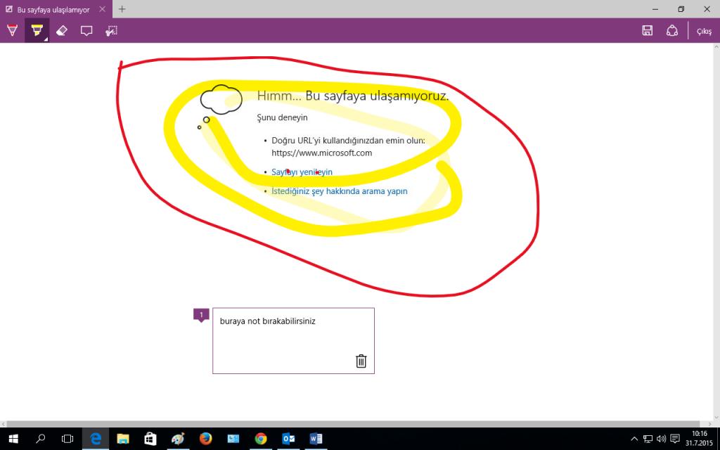 Windows 10 Screen Microsoft Edge