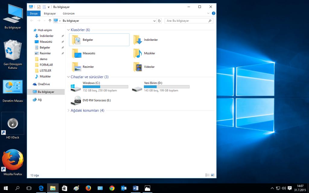 Windows 10 Screen İcons