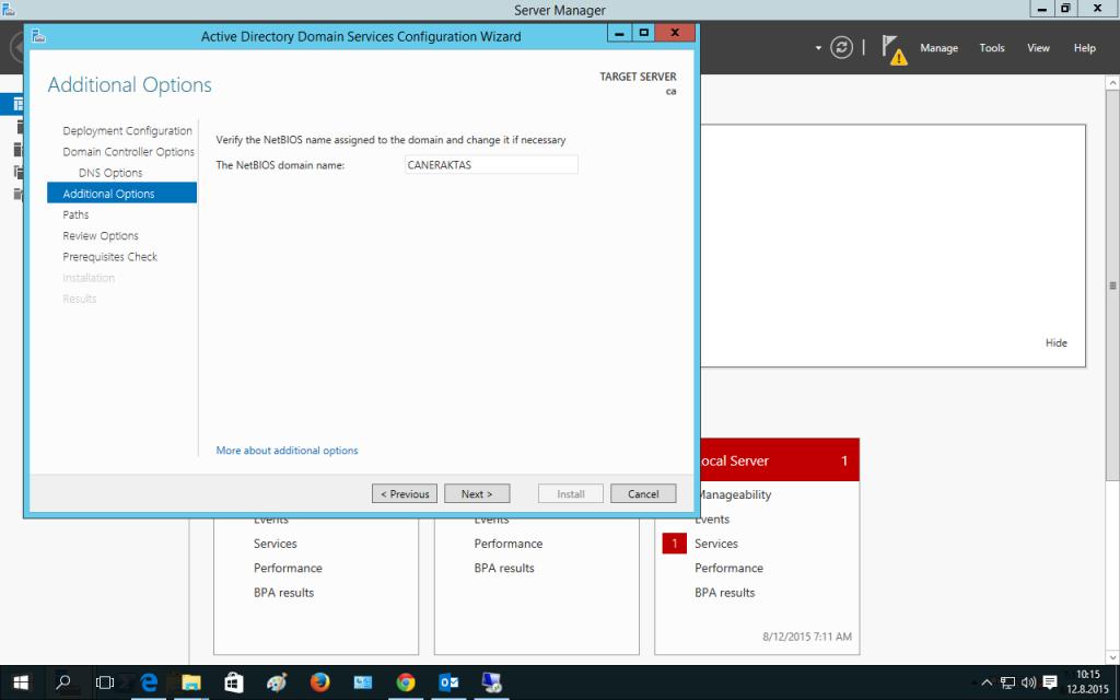 Active Directory Promote İşlemi