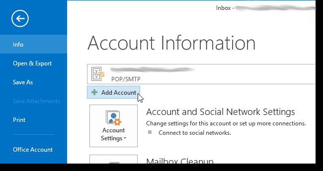 Outlook 2013 te Mail Hesaplarını Yedekleme ve Aktarma